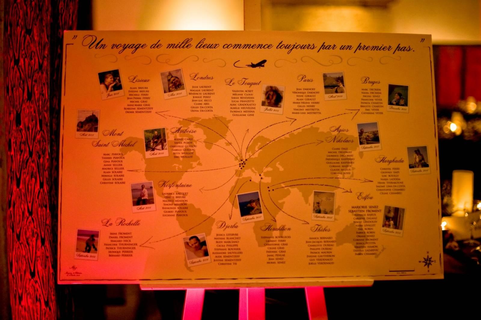 Un plan de table pour votre mariage wedding planner paris mariage dans l 39 air - Etiquette plan de table ...